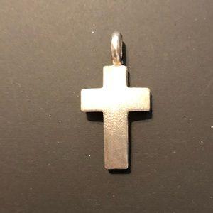 Sterling silver cross pendant.
